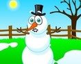 Snowman in spring